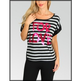 Devsters  Love Striped Tee