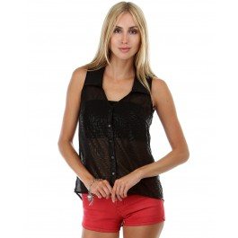 Devsters Black & Beautiful Chiffon Top