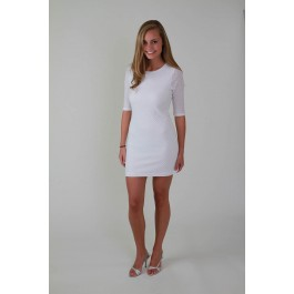 Devsters White Diamond Knit Dress
