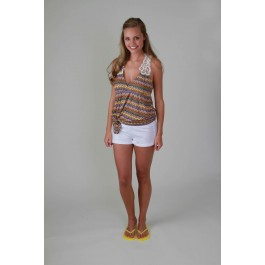 Devsters Crochet Zig Zag Yellow Top