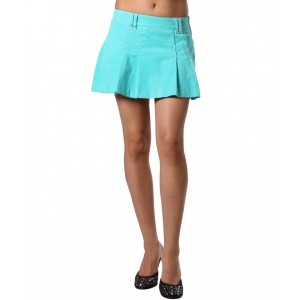 Devsters Sporty Flare Corduroy Skirt -  Aqua Green