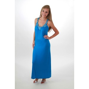 Devsters Blue Gemstone  Maxi Dress