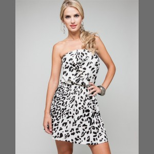 Devsters Elegant Black on Ivory Dress