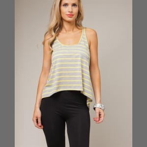Devsters Yellow Strip Tank Top