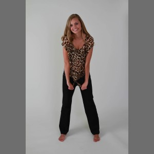 Devsters Tiger Print Tie Top