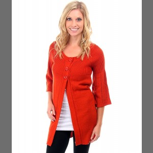 Devsters Classy Flaming Red Hot Cardigan - Fall in Love!