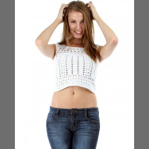 Devsters Diva White Crochet Top