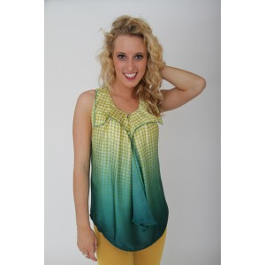 Devsters Green Colorful Sleeveless Top