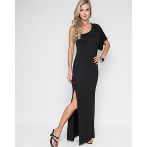 Devsters Starlet Black Fitted Maxi Dress