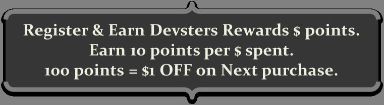 Register & Earn Devsters Rewards $ Points